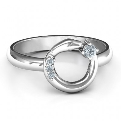 Sterling Silver Ouroboros Snake Ring - Name My Jewelry ™