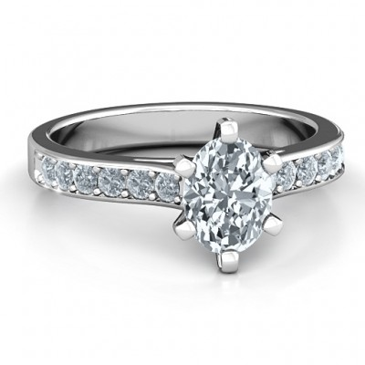 Sterling Silver Shining in Love Ring - Name My Jewelry ™