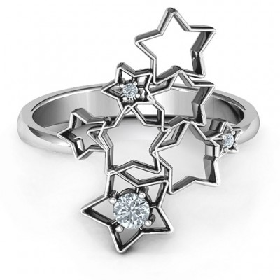 Sterling Silver Sparkling Constellation Ring - Name My Jewelry ™