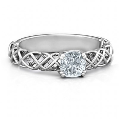 Sterling Silver Tangled in Love Ring - Name My Jewelry ™