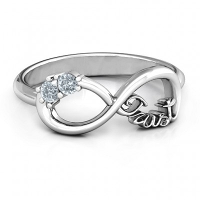 Sterling Silver Trust Infinity Ring - Name My Jewelry ™