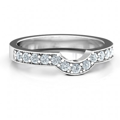 Sterling Silver U-Shape Shadow Ring - Name My Jewelry ™