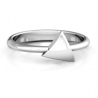 Triangle Pebble Geometric Ring - Name My Jewelry ™