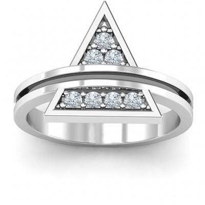 Triangle of Glam Geometric Ring - Name My Jewelry ™