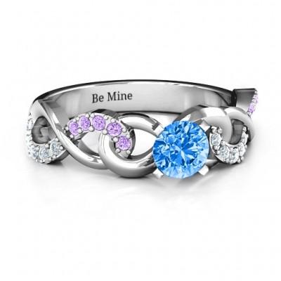 Triple Infinity with Accents Ring - Name My Jewelry ™