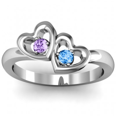 Twin Hearts Ring - Name My Jewelry ™