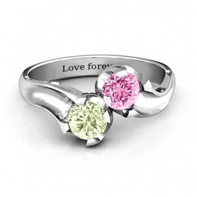 Two Stone Sparkle Ring  - Name My Jewelry ™