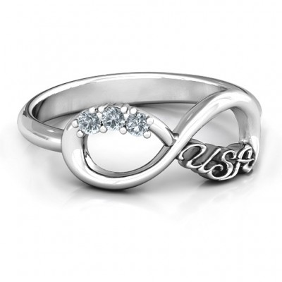USA Infinity Ring - Name My Jewelry ™