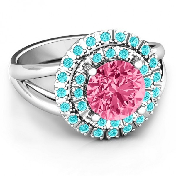 Victoria Double Halo Ring - Name My Jewelry ™