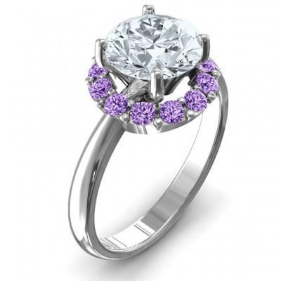 Victoria Single Halo Ring - Name My Jewelry ™