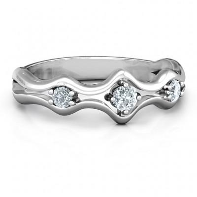 Wavy Trio Ring - Name My Jewelry ™
