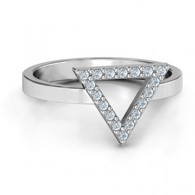 Your Best Triangle with Accents Ring - Name My Jewelry ™