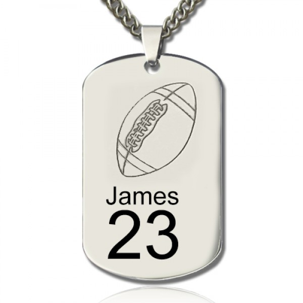 Man's Dog Tag Rugby Name Necklace - Name My Jewelry ™