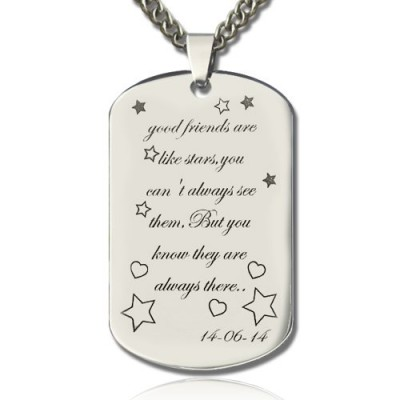 Best Friends Gift Dog Tag Name Necklace - Name My Jewelry ™
