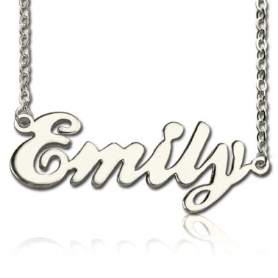 Custom Cursive Name Necklace Sterling Silver - Name My Jewelry ™