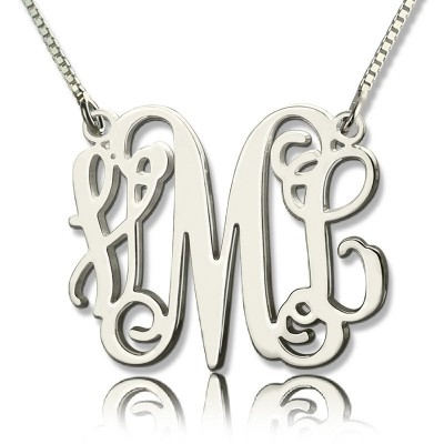 personalized Monogram Initial Necklace Sterling Silver - Name My Jewelry ™