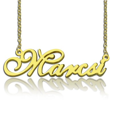 personalized Nameplate Necklace 18ct Gold Plated - Name My Jewelry ™