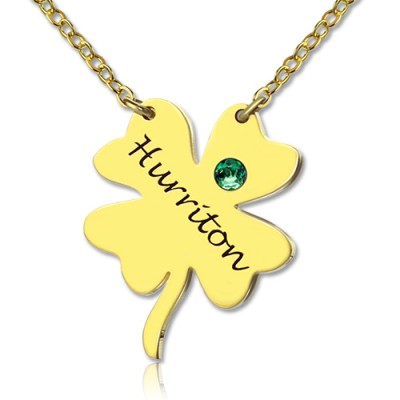 Good Luck Things - Clover Necklace 18ct Gold Plated - Name My Jewelry ™