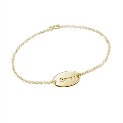 18ct Gold-Plated Silver personalized Baby Bracelet/Anklet - Name My Jewelry ™