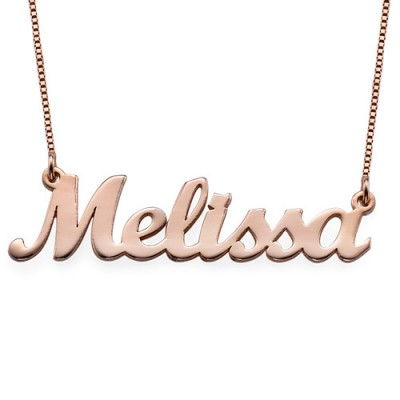 18ct Rose Gold Plated Script Name Necklace - Name My Jewelry ™
