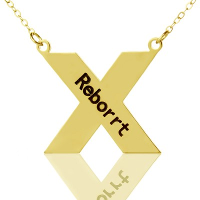 personalized 18ct Gold Plated Silver St. Andrew Name Cross Necklace - Name My Jewelry ™