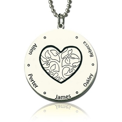 Family Tree Jewelry Necklace Engraved Names - Name My Jewelry ™