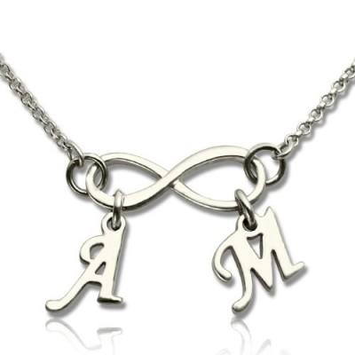 personalized Infinity Necklace Double Initials Sterling Silver - Name My Jewelry ™