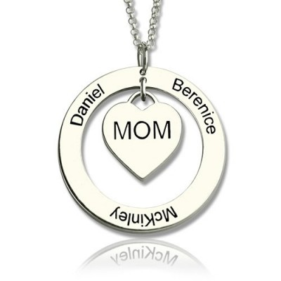 Family Names Necklace For Mom Sterling Silver - Name My Jewelry ™