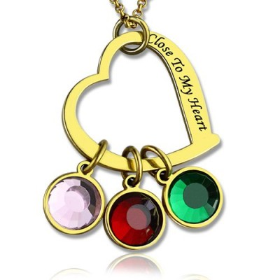 personalized Close to My Heart Necklace 18ct Gold Plated - Name My Jewelry ™