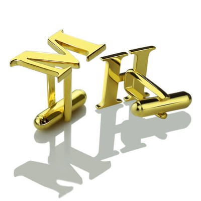 Best Initial Cufflinks 18ct Gold Plated - Name My Jewelry ™