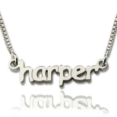 personalized Mini Name Letter Necklace Sterling Silver - Name My Jewelry ™