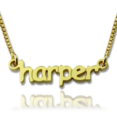 personalized Mini Name Necklace 18ct Gold Plated - Name My Jewelry ™