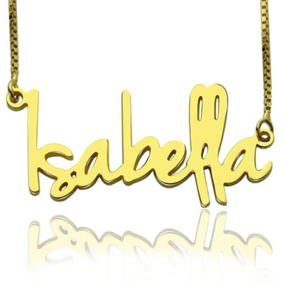 Small Name Necklace For Women in 18ct Gold Plated - Name My Jewelry ™
