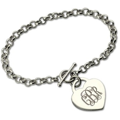 personalized Monogram Charm Bracelet For Her Silver - Name My Jewelry ™