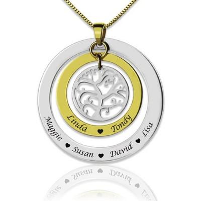 Grandma Family Tree Names Necklace - Name My Jewelry ™