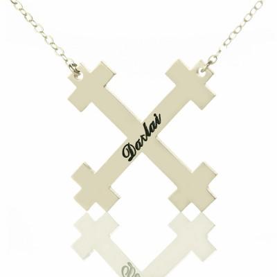 Silver Julian Cross Name Necklaces Troubadour Cross Jewelry - Name My Jewelry ™