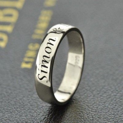 personalized Promise Name Ring Sterling Silver - Name My Jewelry ™