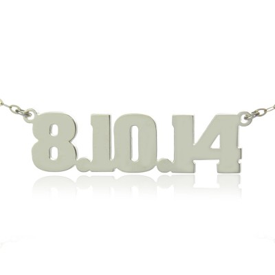 Sterling Silver Number Name Necklace Unique Men Jewelry - Name My Jewelry ™