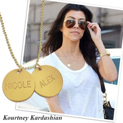 18ct Gold Plated Silver Disc Pendant Necklace - Name My Jewelry ™