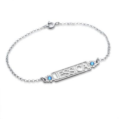 Birthstone Name Bracelet/Anklet  - Name My Jewelry ™