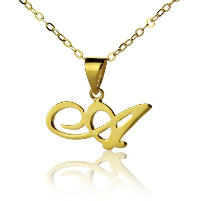 personalized Letter Necklace 18ct Gold Plated - Name My Jewelry ™