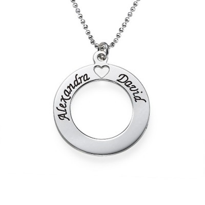 Sterling Silver Couples Love Necklace - Name My Jewelry ™
