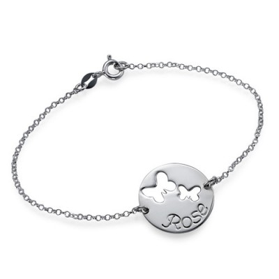 Cut Out Butterfly Bracelet/Anklet - Name My Jewelry ™