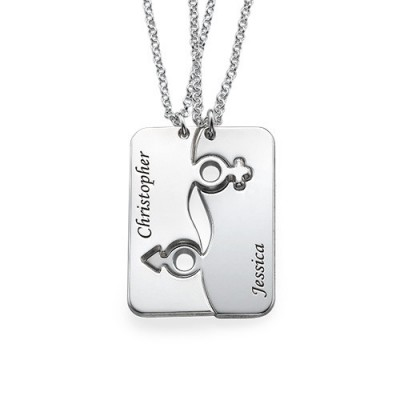 Engraved His and Hers Necklace for Couples - Name My Jewelry ™