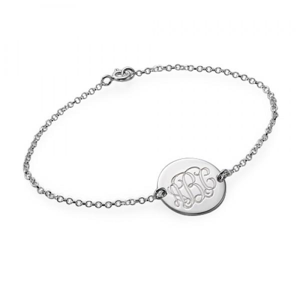 Sterling Silver Monogram Bracelet/Anklet - Name My Jewelry ™