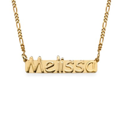 18k Gold Plated Sterling Silver Name Necklace - Name My Jewelry ™