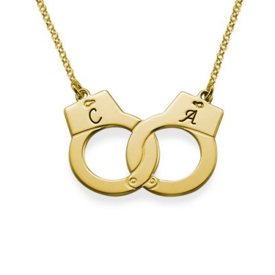 Handcuff Necklace in 18ct Gold Plating - Name My Jewelry ™