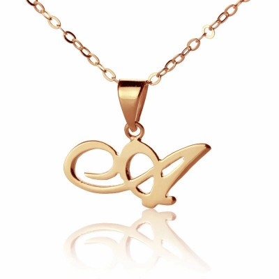 Custom Letter Necklace 18ct Rose Gold Plated - Name My Jewelry ™