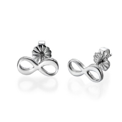 Infinity Stud Earrings with Initial - Name My Jewelry ™