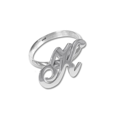 Initial Ring in Silver - Name My Jewelry ™